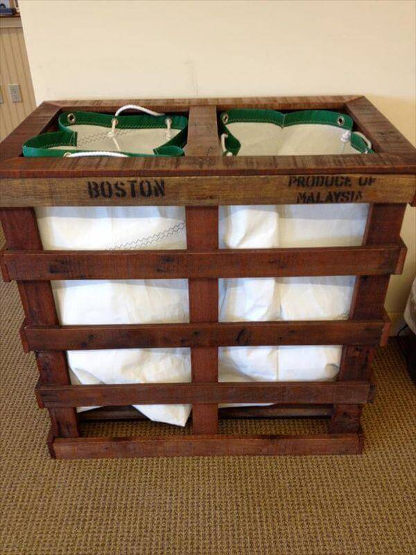 diy pallet laundry room hamper