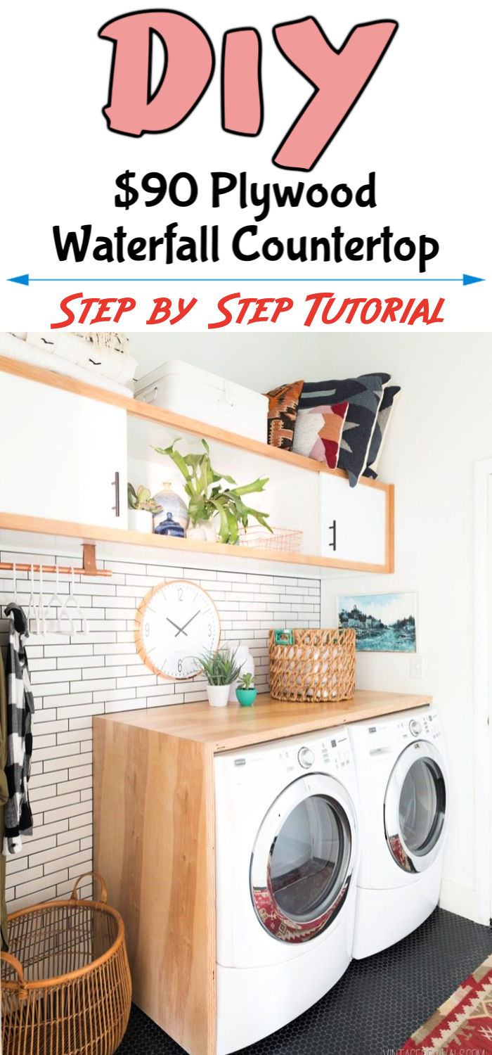 Build a 90 Plywood Waterfall Countertop