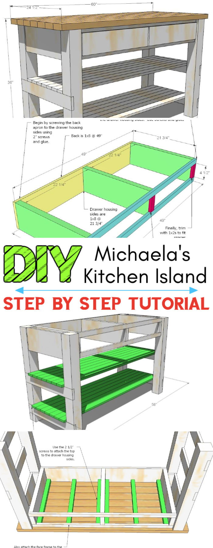 Build a Michaelas Kitchen Island