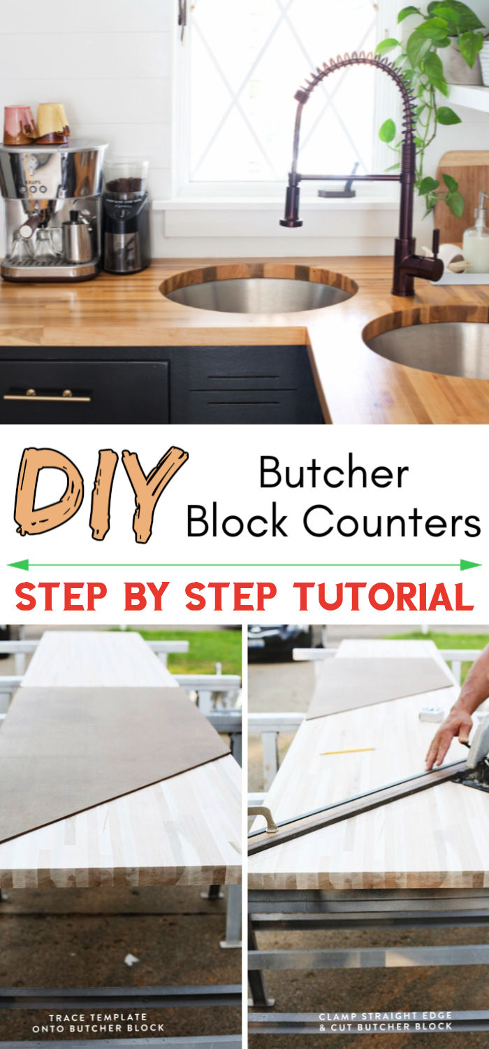 Butcher Block Counters With An Undermount Sink