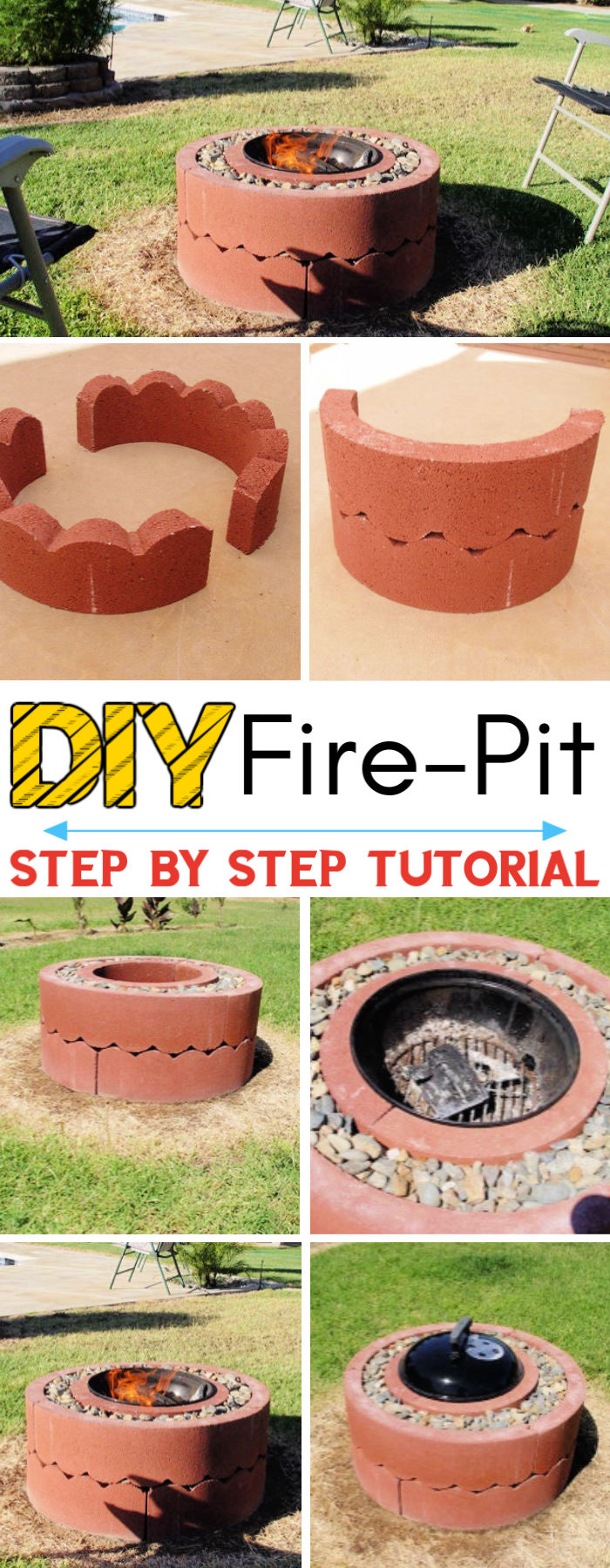 DIY 50 Fire Pit Using Concrete Tree Rings