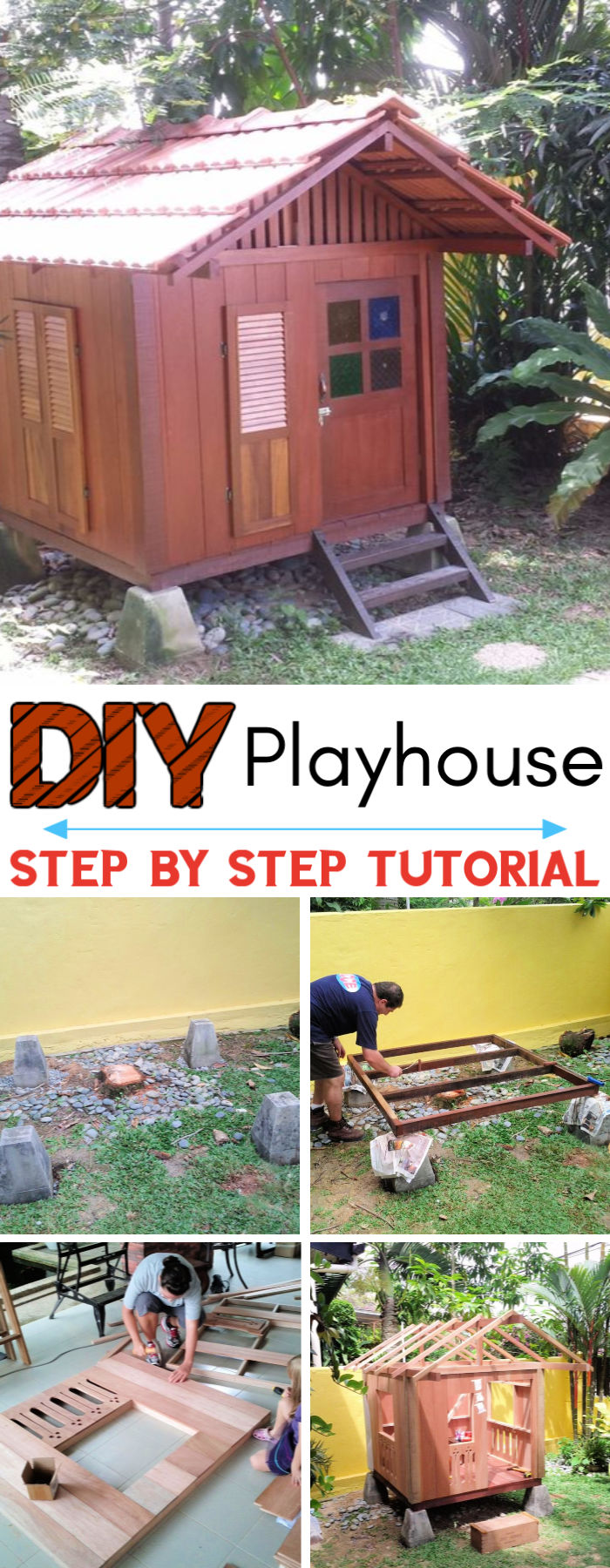 DIY Balinese Styled Playhouse