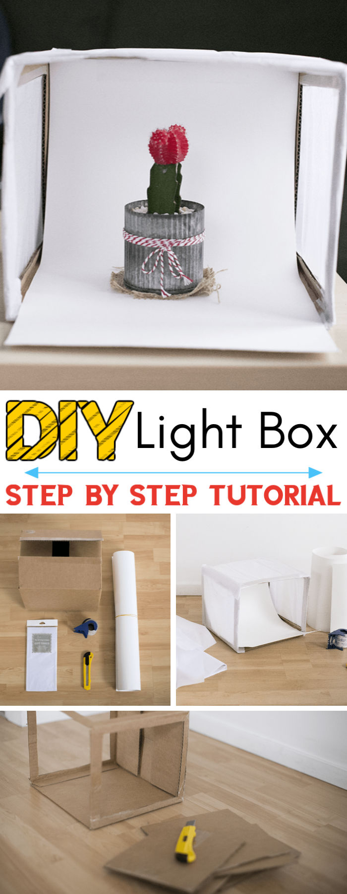 DIY Cardboard Box Photography Light Box
