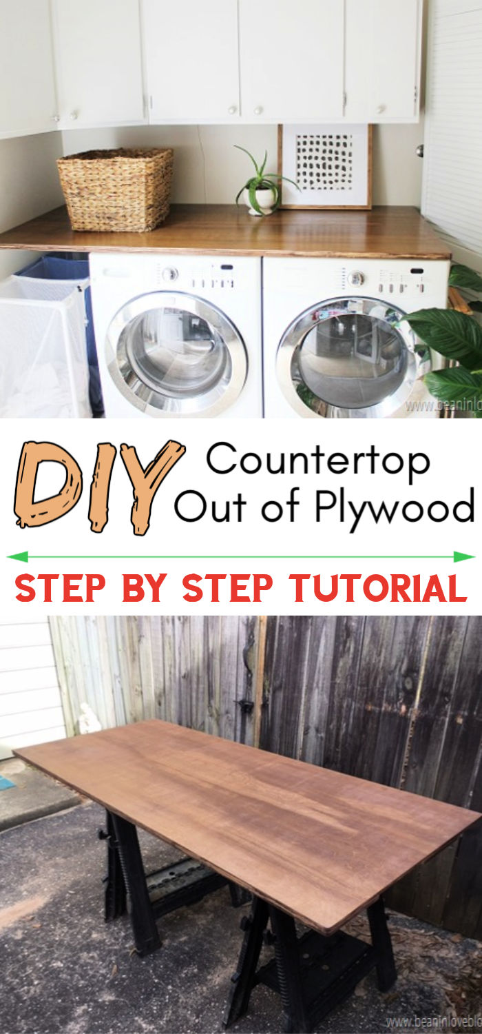 DIY Countertop Out of Plywood