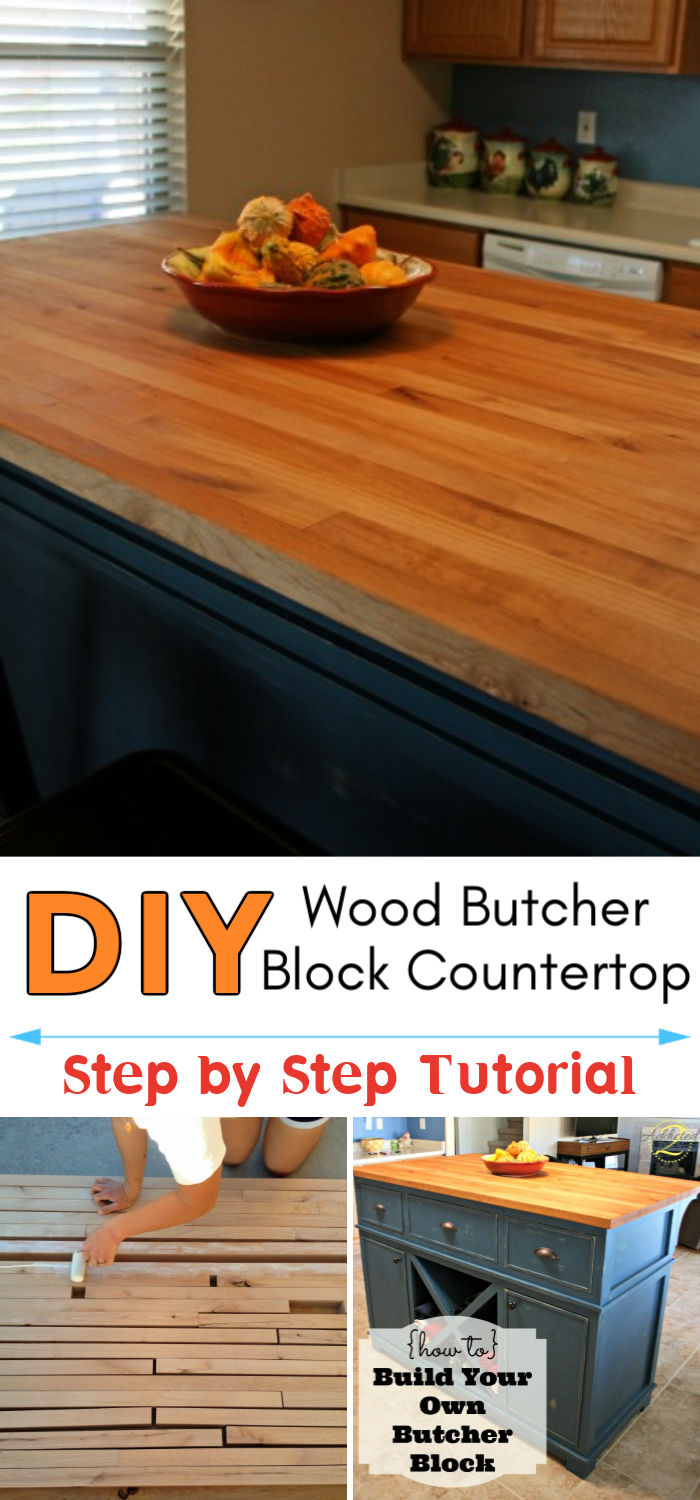 DIY Handmade Wood Butcher Block Countertop