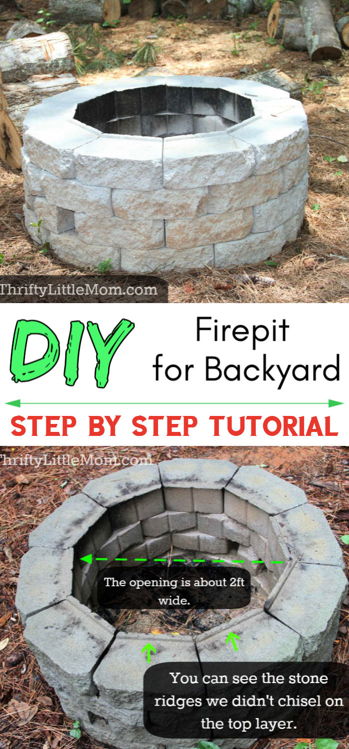 DIY Inexpensive Firepit for Backyard Fun