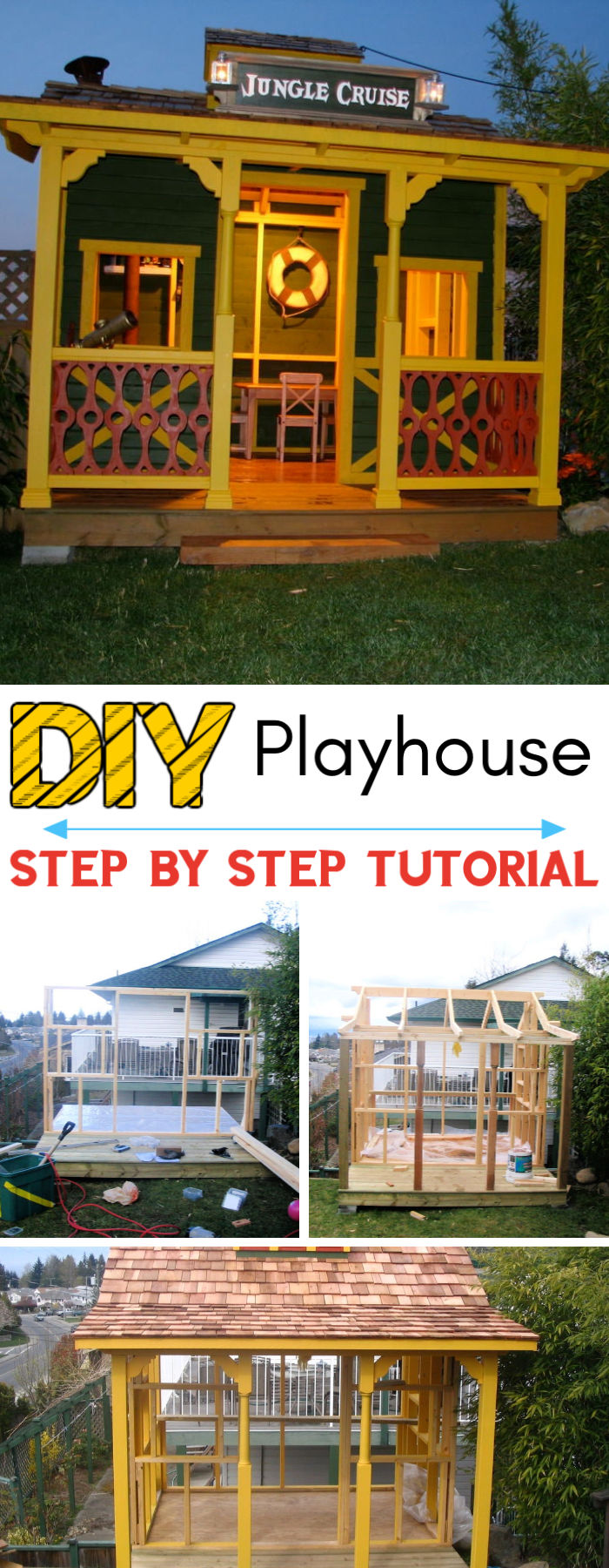DIY Jungle Cruise Wooden Playhouse