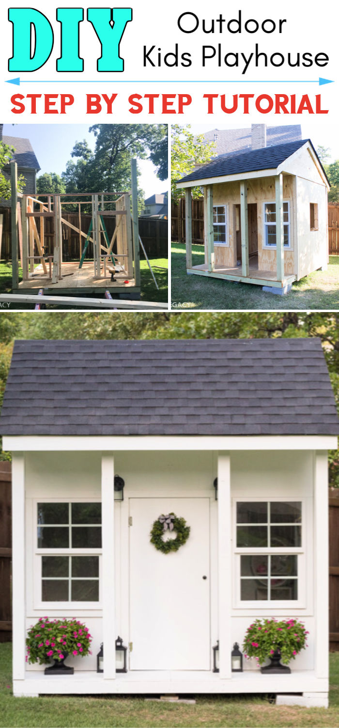 DIY Outdoor Playhouse Plan Every Kid Would Love