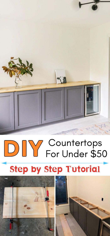 DIY Wood Countertops For Under 50