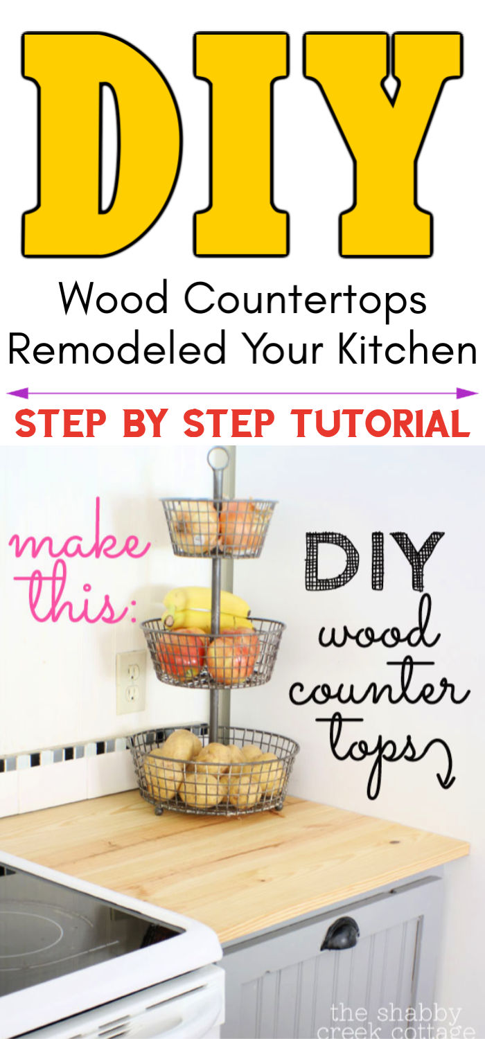 DIY Wood Countertops Remodeled Your Kitchen