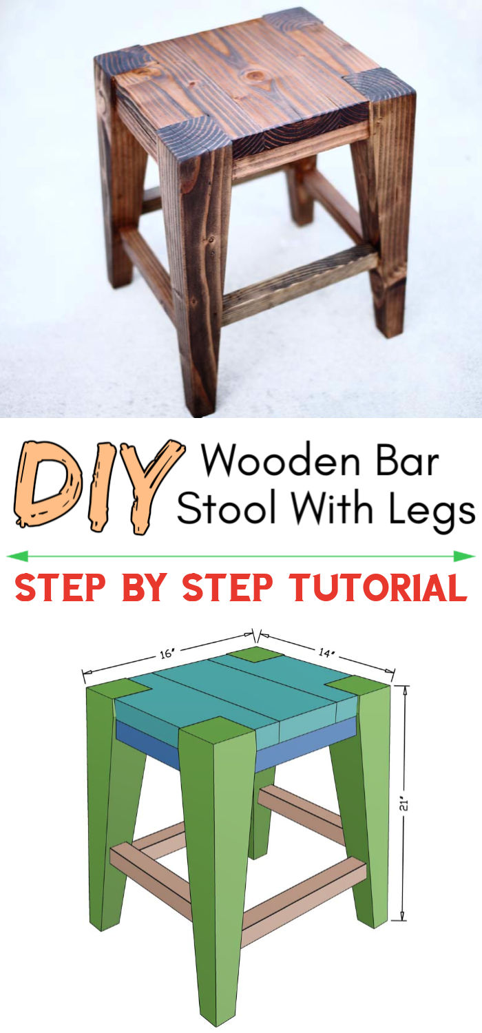 DIY Wooden Bar Stool With Legs