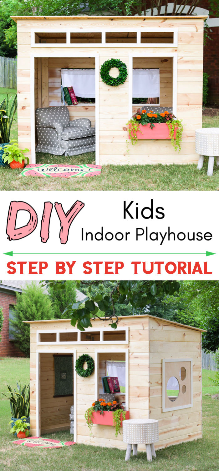 Easy DIY Kids Indoor Playhouse