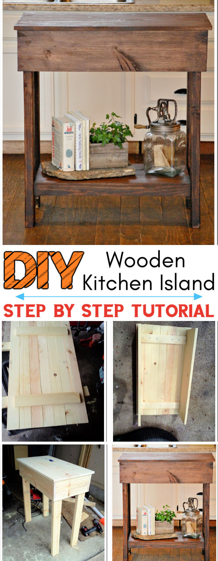 Handmade Wooden Kitchen Island