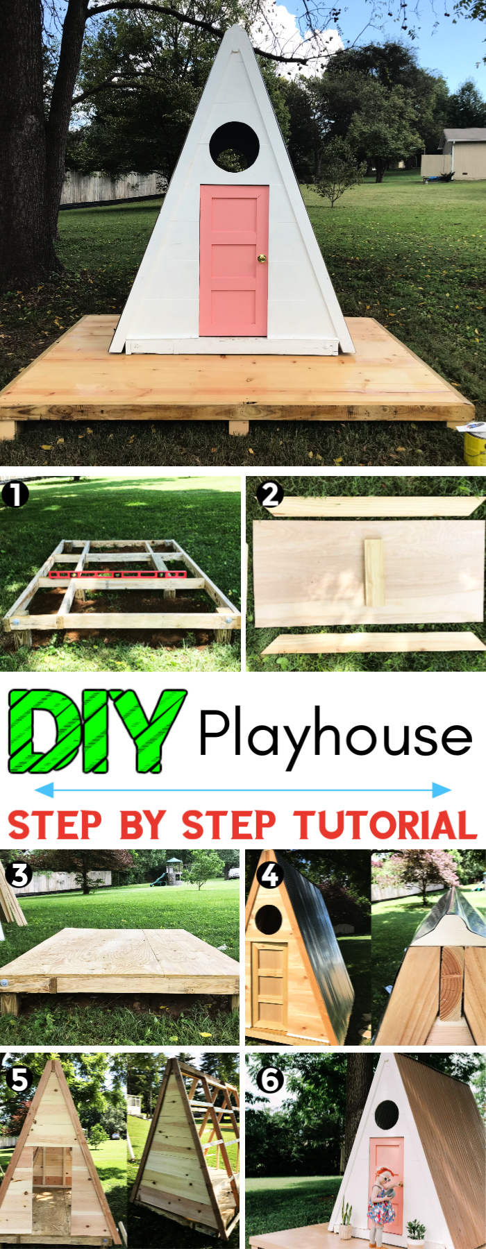 How to Build A frame Playhouse