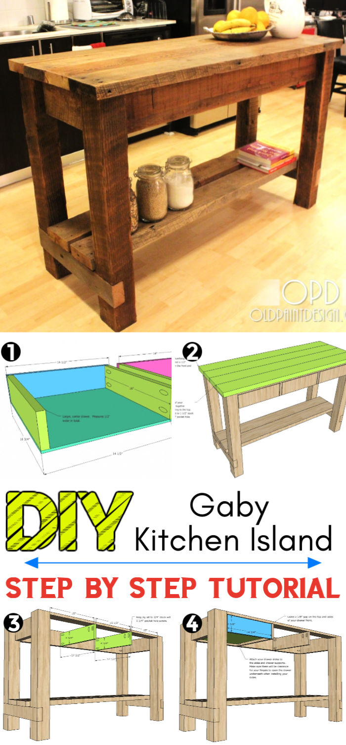 How to Build a Gaby Kitchen Island
