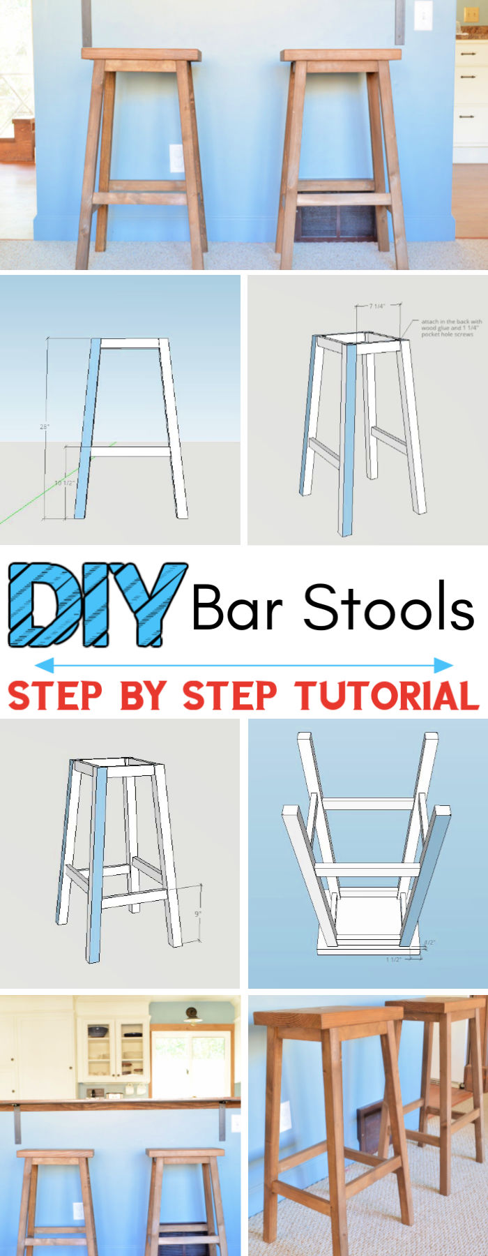 Simple DIY Bar Stools