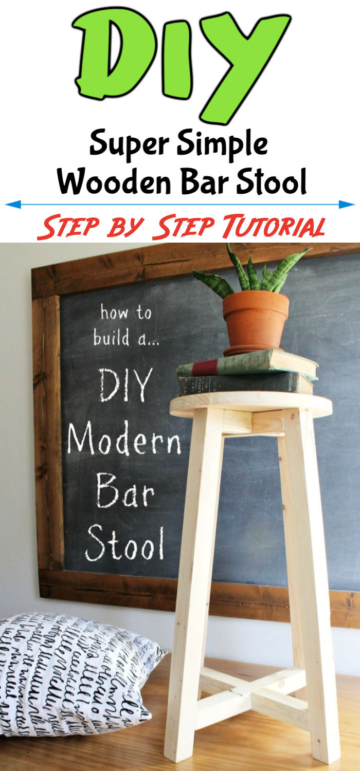 Super Simple DIY Bar Stool